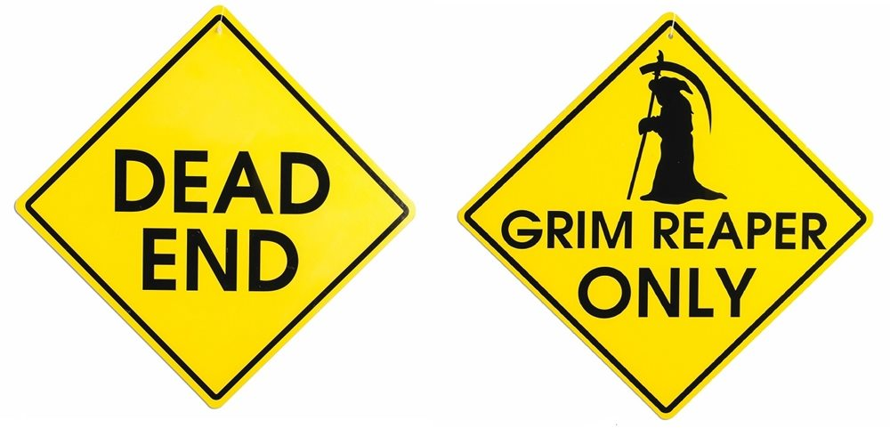 Picture of 2-Sided Halloween Warning Sign (More Styles)