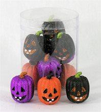 Picture of Mini Glitter Pumpkin Set 12ct