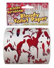 Picture of Bloody Bathroom Toilet Paper
