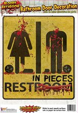Picture of Bloody Restroom Door Sign