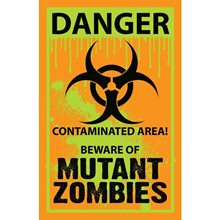 Picture of Biohazard Mutant Zombies Yard Sign