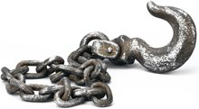 Picture of Jumbo Rusty Chain with Hook