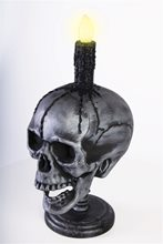 Picture of Light-Up Skull Head Candle Prop