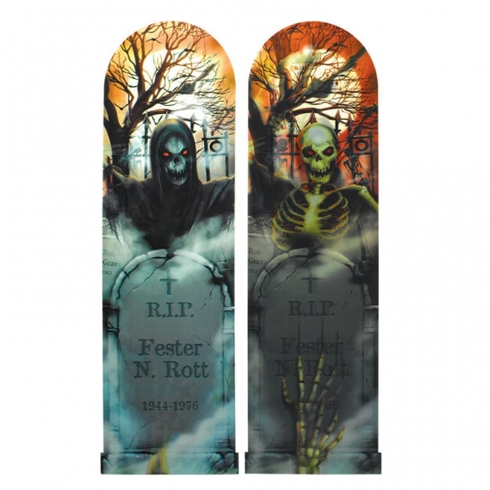 Picture of Spooky Graveyard Ghoul Lenticular Sign