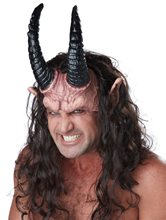 Picture of Devious Demon Half Mask with Hair