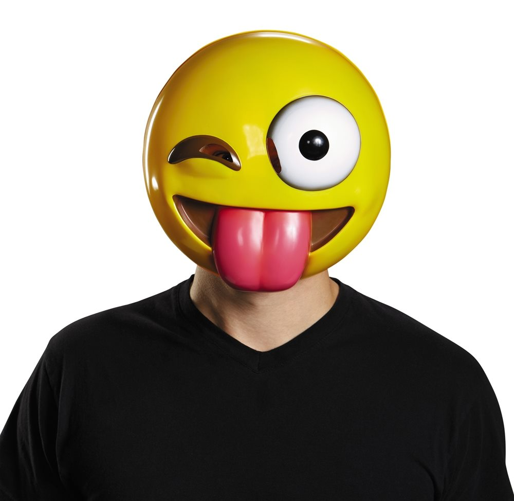 Picture of Tongue Out Emoji Adult Mask