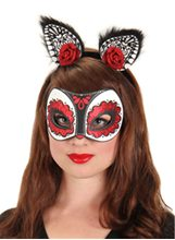 Picture of Sugar Skull Glitter Cat Mask