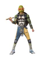 Picture of Ninja Turtles Movie 2 Deluxe Michelangelo Child Costume