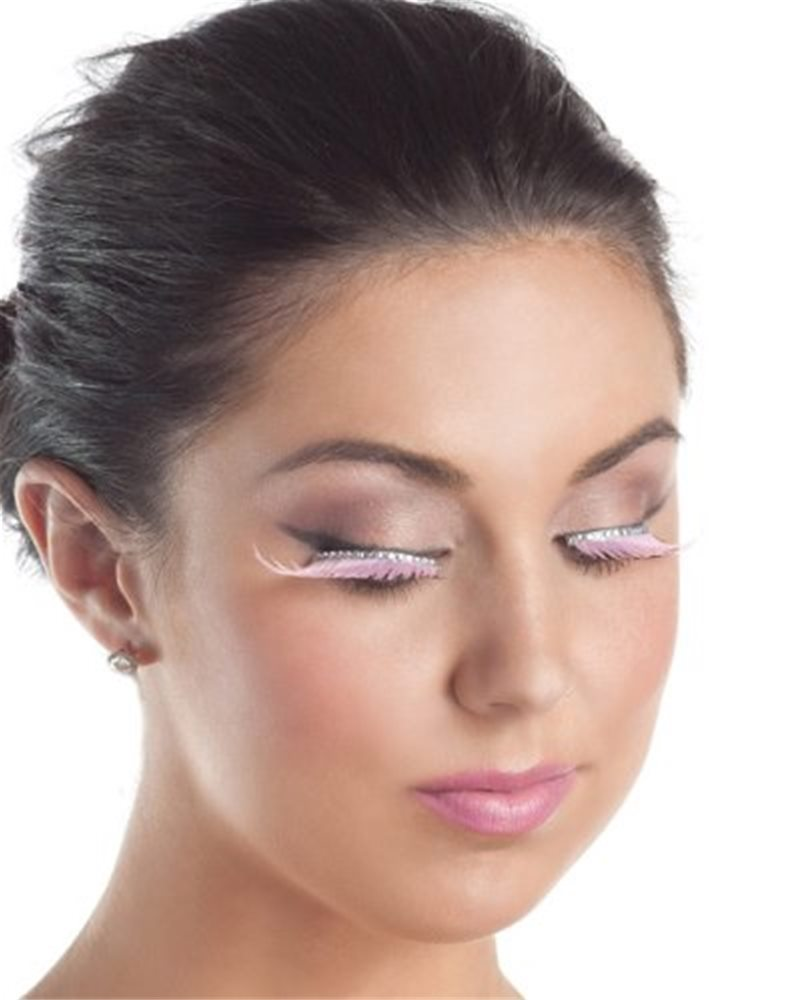 Picture of Pink Eyelashes with Clear Rhinestones