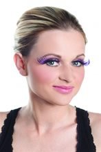 Picture of Curled Purple Eyelashes
