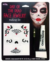 Picture of Day of the Dead Face Jewelry Makeup Kit