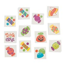 Picture of Trick or Treat Paper Tattoos