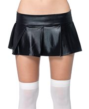 Picture of Wet Look Pleated Skirt