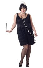 Picture of Black Fashion Flapper Adult Womens Plus Size Costume