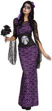 Picture of La Muerte Skull Dress Adult Womens Costume