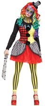 Picture of Freak Show Clown Adult Womens Costume