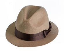 Picture of Tan Detective Fedora Hat