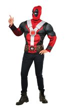 Picture of Deadpool Adult Mens Muscle Shirt & Mask