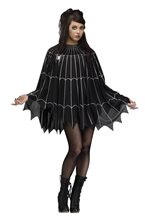 Picture of Black & Silver Spiderweb Poncho
