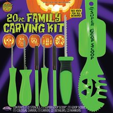 Picture of Green Family Pumpkin Carving Kit 20pc