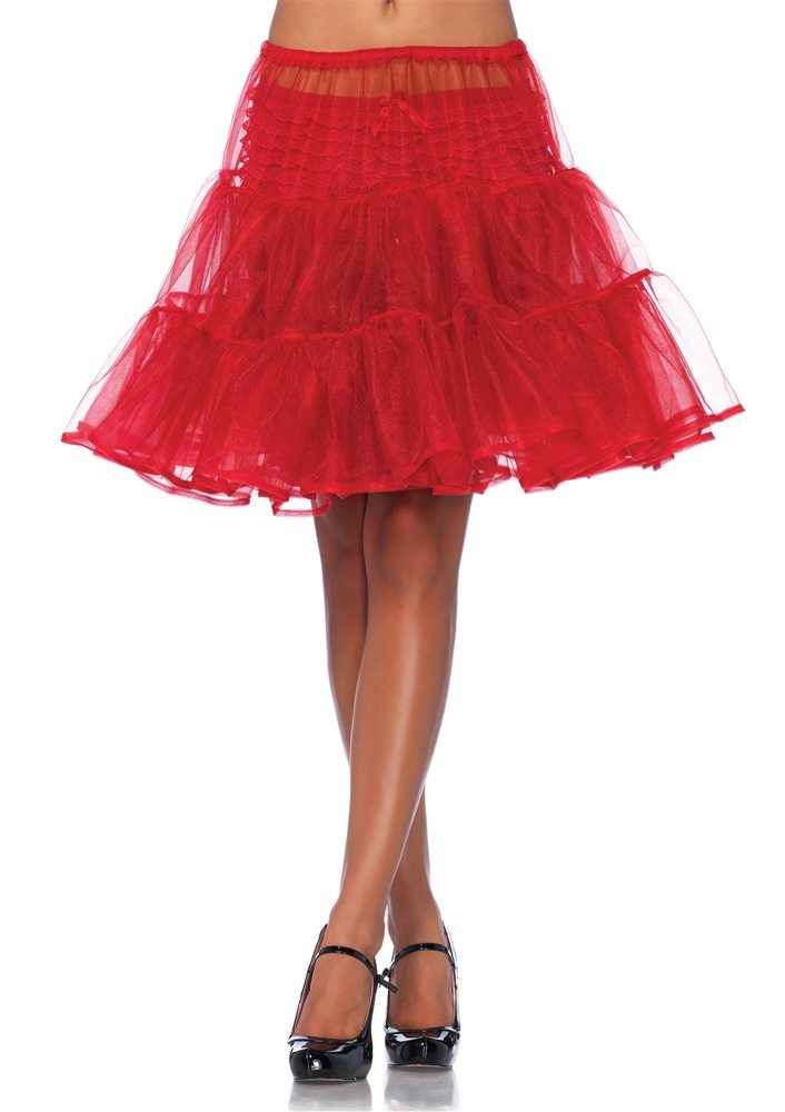 Picture of Red Shimmer Organza Petticoat