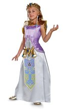 Picture of Zelda Deluxe Gown Tween Costume