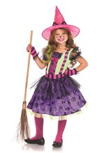 Picture of Colorful Cat Witch Child Costume