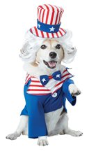 Picture of Uncle Sam Pup Pet Costume