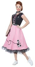 Picture of 50s Pink Poodle Sweetie Adult Womens Costume