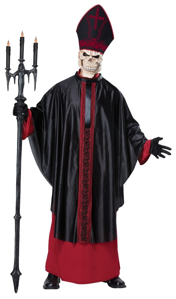 Picture of Black Mass Skeleton Priest Adult Mens Costume