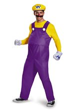 Picture of Super Mario Brothers Deluxe Wario Adult Mens Costume