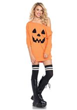 Picture of Pumpkin Adult Womens Jersey Dress