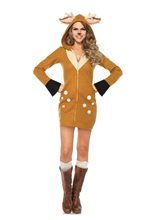 Picture of Cozy Fawn Dress Adult Womens Costume