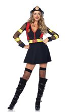 Picture of Red Hot Fire Captain Adult Womens Costume
