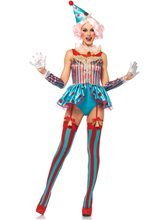 Picture of Delightful Circus Clown Adult Womens Costume