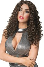 Picture of Brown 70s Disco Glam Wig