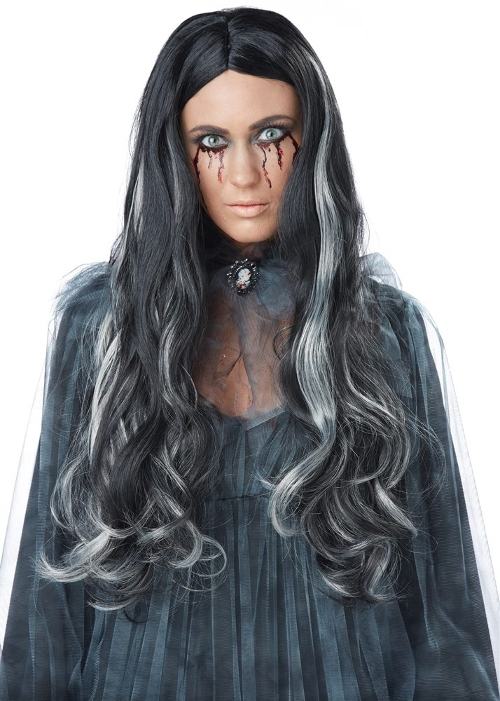 Picture of Black and Grey Bloody Mary Wig