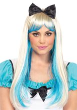 Picture of Alice in Wonderland Two-Tone Wig with Bow