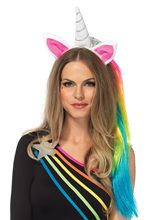 Picture of Magical Unicorn Headband with Rainbow Mane