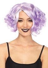 Picture of Lavender Pastel Curly Bob Wig