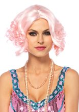 Picture of Pink Pastel Curly Bob Wig