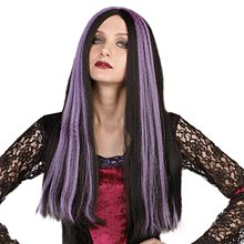 Picture of Purple Streaked Black Witch Wig