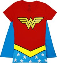 Picture of Wonder Woman Glitter V-Neck Juniors T-Shirt