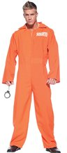 Picture of Orange Prisoner Jumpsuit Adult Mens Plus Size Costume