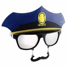 Picture of Police Officer Sunglasses with Mustache
