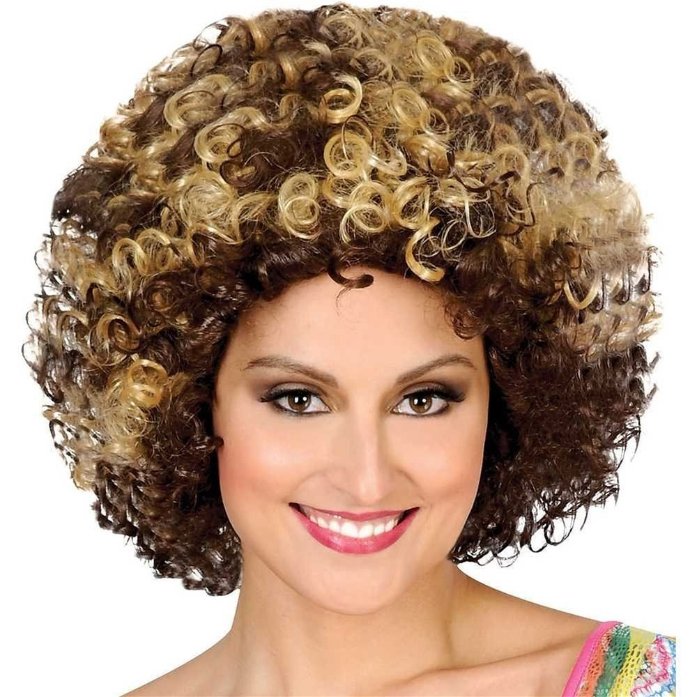 Picture of Brown and Blonde 70s Afro Wig