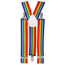 Picture of Rainbow Clown Suspenders
