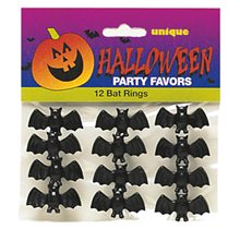 Picture of Bat Rings Party Favors 12ct