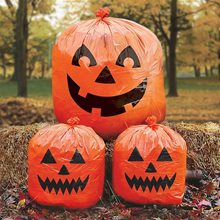 Picture of Halloween Pumpkin Lawn Bags 3ct