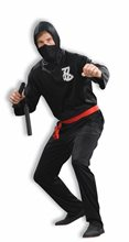 Picture of Black Ninja Adult Mens Costume